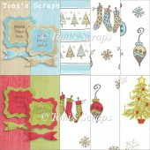 Xmas Papers & FREE Tags & Bows