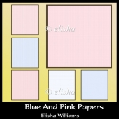 Blue And Pink Papers