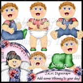 Happy Baby Boy Clipart Collection