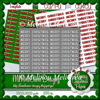 Merry Christmas Paper Template/ CU
