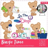 Bingo Time - Teddy Bear Clip Art Collection