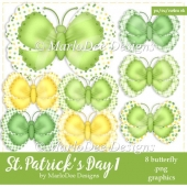 St. Patrick's Day Colors 1 - Butterfly Graphics 2