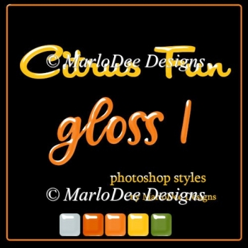 Citrus Fun Gloss Photoshop Styles by MarloDee Designs
