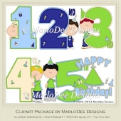 Birthday Years Boys Set Clip Art by MarloDee Designs