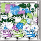 CU flowers and butterflies 6 FS by GJ