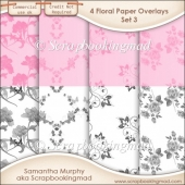 Floral Paper Overlays - Set 3 - PNG FILES - CU OK