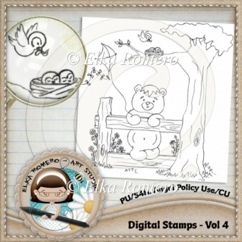 Digital Stamps - Vol 4
