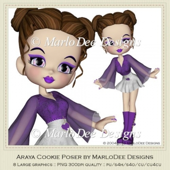 Araya Cookie Poser Graphics by MarloDee Designs