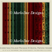 Christmas Holiday Package 8 Digital Paper Package - Freebie