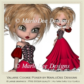 Valarie Cookie Poser Graphics by MarloDee Designs