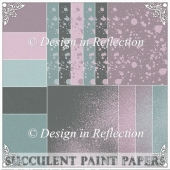 Succulent Paint Papers