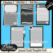 JOURNAL CARDS TEMPLATE PACK CU4CU - FULL SIZE