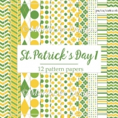 St. Patrick's Day Colors 1 - Pattern Papers 1