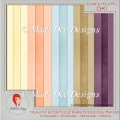 Healthy Lifestyle Card Stock Digital Papers 2