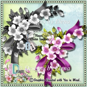 Flower Cluster Template