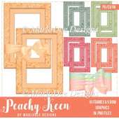 Peachy Keen Bows & Vertical Frame Graphics