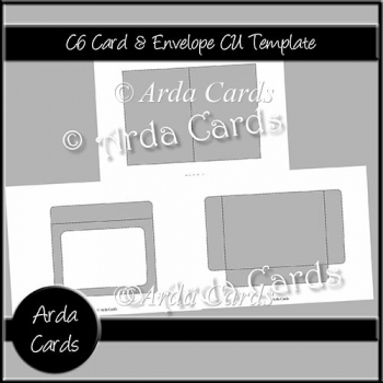 C6 Card & Envelope CU Template