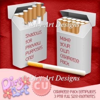 * Cigarette Pack Template *