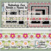Battenberg Lace Border and Frames Set 3