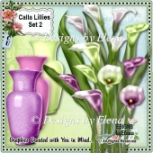 Calla Lillies in Vase Set 2