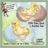 Baby Duck and Hatched Egg PS Action CU