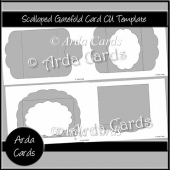 Scalloped Gatefold Card CU Template