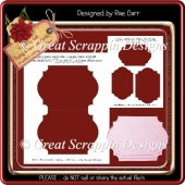 Fancy Shape Card Template PNG & PDF