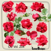 Red Roses by Lemur Designs
