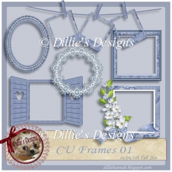 Fancy Blue Frames-CU Frames 01