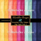 November Color Palette 2 A4 size Digital Papers Pkg 3