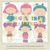 Angel in Training Set 1 Clip Art Graphics by MarloDee Designs