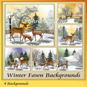 Winter Fawn Backgrounds