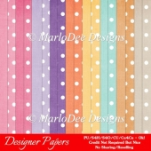 Easter Bunnies A4 Digital Papers Backgrounds