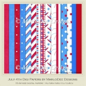 July 4th Digital Papers Package {A4 size}