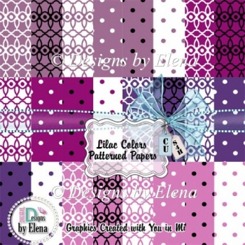 Lilac Color Patterned Papers