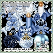 Christmas Candle Setting (Blue)