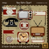 New Retro Clipart Elements