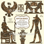 Egyptian Bronze - Set One - CU Designer Resource For CU PU