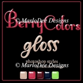 Berry Colors 1 Gloss Photoshop Styles by MarloDee Designs