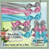 Bow and Wrap Set Recolorable Template
