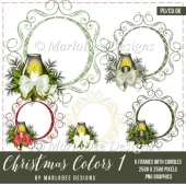 Christmas Plaid Frames with Candles | Christmas Colors 1