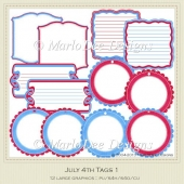 July 4th Journal/Gift Tags by MarloDee Designs