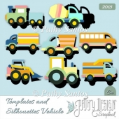 Template and Silhouette Vehicule Pathy Design