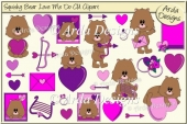 Squishy Bear Love Me Do CU Clipart