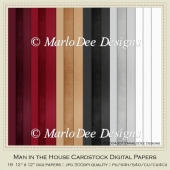 Man in the House Card Stock Digital Papers Package