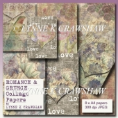 ROMANCE AND GRUNGE COLLAGE PAPERS by Lynne K Crawshaw