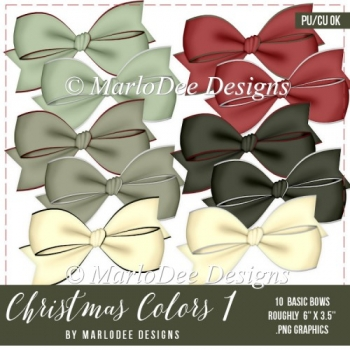 Christmas Holiday Package 1 Digital Bows by Marlo