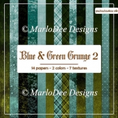 Blue Green Shades Multi Design Digital Papers Package 2