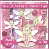 Nienna The Pink Fairy CU Graphics And Paper