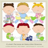 Baby Bottle Tots Clip Art Graphics by MarloDee Designs